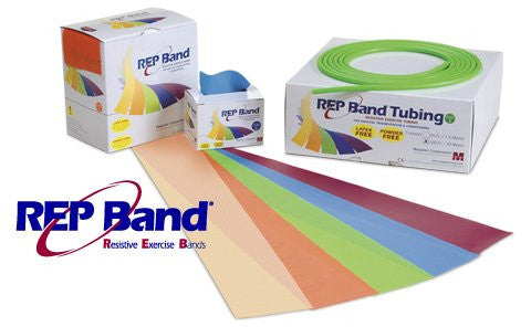 REP Band Latex-Free Resistive Exercise - Tubing - 25' - Green (Level 3)