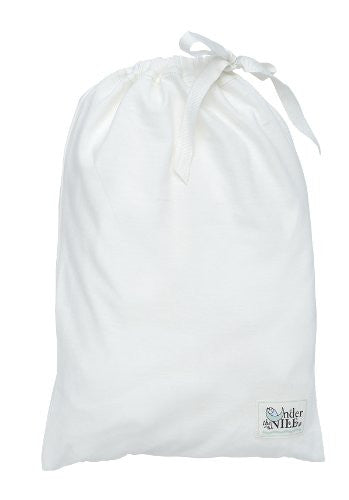 Under the Nile Fitted Crib Sheet With Bag (Color: Off-White)