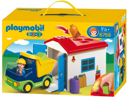 PLAYMOBIL® 1.2.3 Truck with Garage