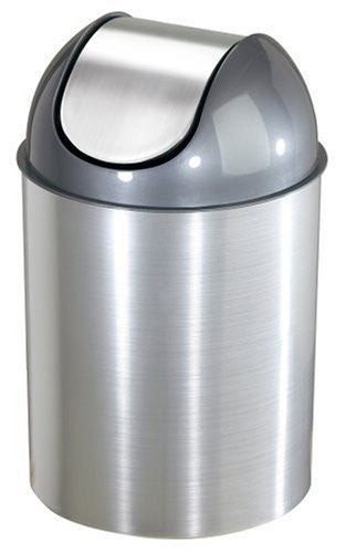 Umbra Mezzo Trash Cans (with lid) (Color: Nickel/Silver)