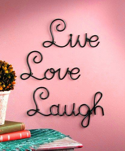 Live Love Laugh Set - Metal