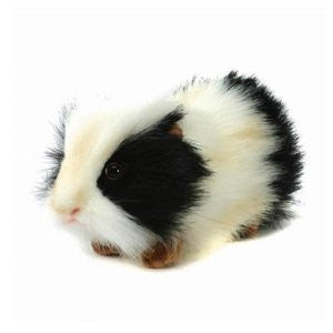 Hansa Guinea Pig Stuffed Plush Animal, Black & White