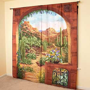 Desert Garden Window Art