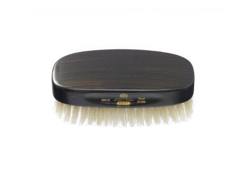 Kent Men's Ebony Wood Military Style Natural Bristle Brush