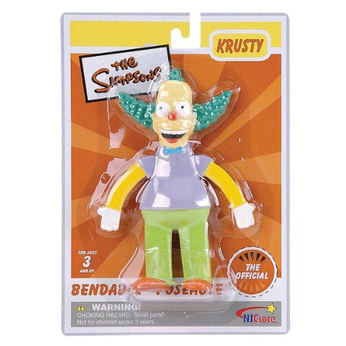 The Simpsons : Krusty the Clown 6 inch Bendable Figure