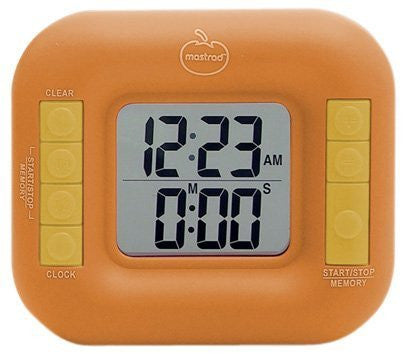 Orka Dual Digital Timer, Orange