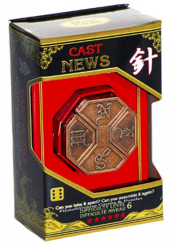 Hanayama Cast Metal Puzzle- News Level 6