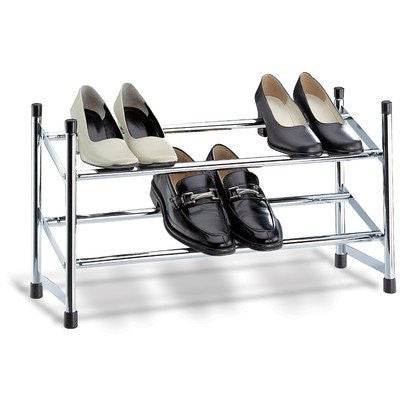 Organize It All 01731W Expandable Chrome Shoe Rack