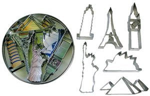 Landmarks Tinplated 6pc Cookie Cutter