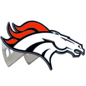 Denver Broncos Large Logo-Only Hitch Cover - NFL Football Fan Shop Sports Team Merchandise