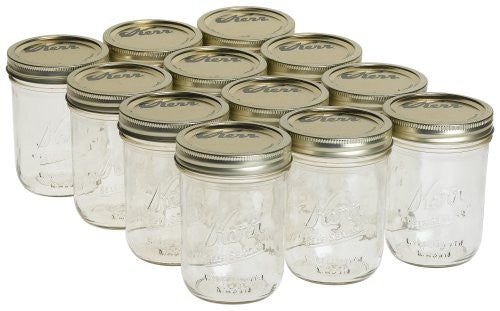 1 Pint (16oz.) Wide Mouth Jars, Set of 12