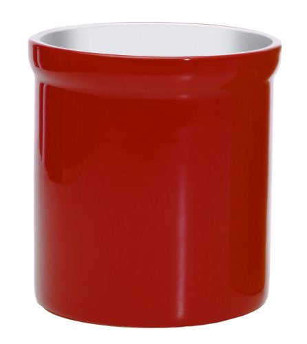Porcelain Tool Crock (Color: Red)
