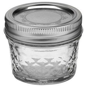 QUILTED CRYSTAL JELLY JARS 4 oz.