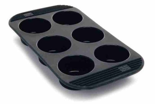 Orka Silicone 6 Cup Muffin Pan.  Color Black.