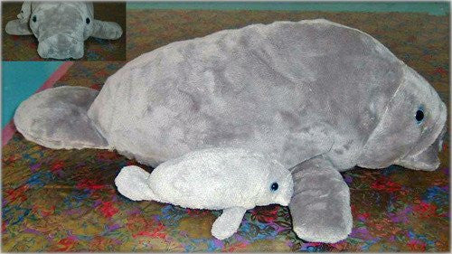 "17"" Manatee with  8"" Baby"