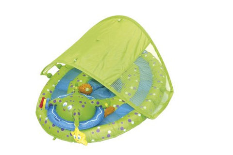 Baby Spring Float Activity Center w/ Canopy - Lime