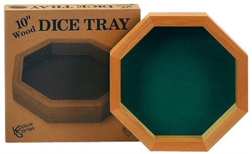 WOOD DICE TRAY -10""