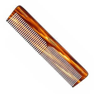Kent The Handmade Comb - 188 mm Extra Large Coarse and Fine Toothed Comb Sawcut 16T