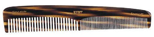 Kent The Handmade Comb - 192 mm Large Coarse and Fine Toothed Comb Sawcut 9T