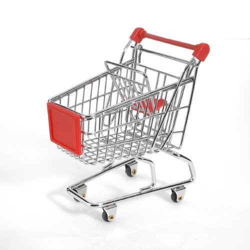 Minya International Corp. Mini Shopping Cart - Red