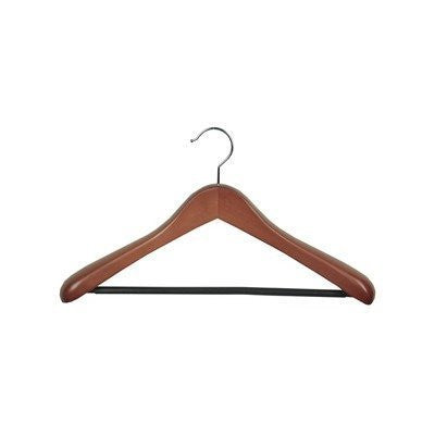 Euro Natural Suit Hanger w/ Ribbed Bar