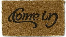 Come-In / Go-Away Ambigram Doormat