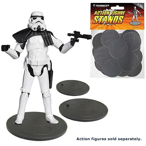 Action Figure Stands Case - Gray