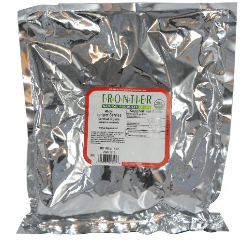 Bulk Juniper Berries Whole, ORGANIC, 1 lb. package