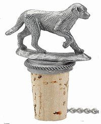 Dog - Solid Pewter Wine Bottle Stopper - 20-211