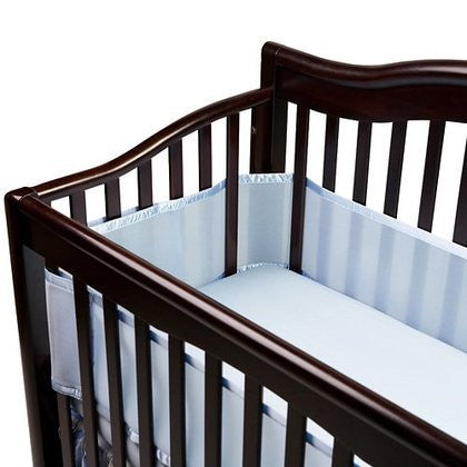 Breathable Mesh Crib Liner - Blue
