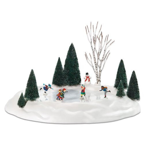 Department 56 New Animated Skating Pond