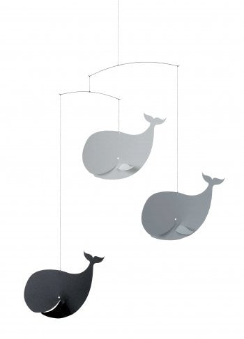 Flensted Mobiles Happy Whales, BlackGrey Mobile