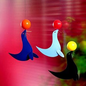 Flensted Mobiles Nursery Mobiles, The 3 Happy Sealions