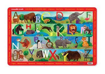 Crocodile Creek Placemat - Animal Kingdom ABC