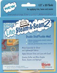 Warm Company Lite Steam-A-Seam 2 Double Stick Fusible Web - in your choice of size