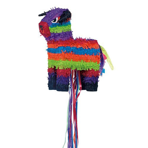 Bull Shaped Pull String Pinata 15 1/2in x 13 1/2in