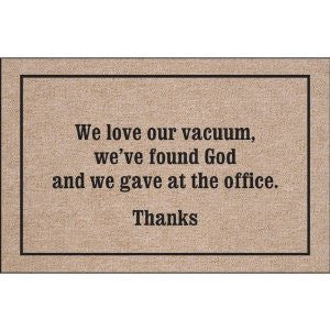 We Love Our Vacuum Indoor/Outdoor Doormat