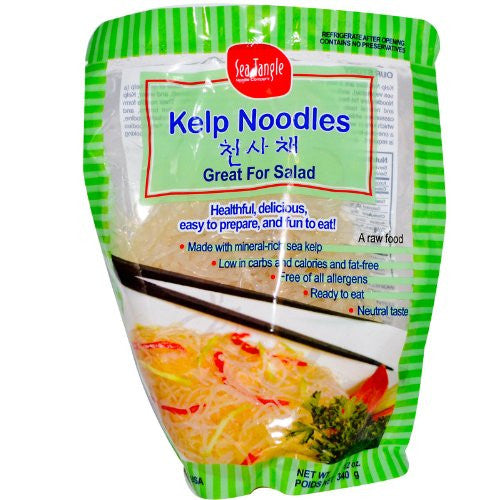 Sea Tangle Noodle, Kelp Noodles, 12 oz (340 g)
