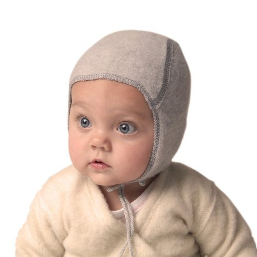 BABY CAP - NO LACE - Grey 0-3 Months