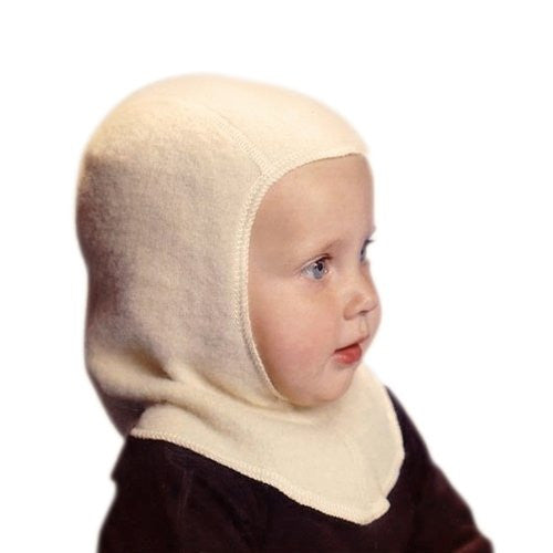Nelson Hat (Balaclava), Infant White Single Layer 1-2 Years