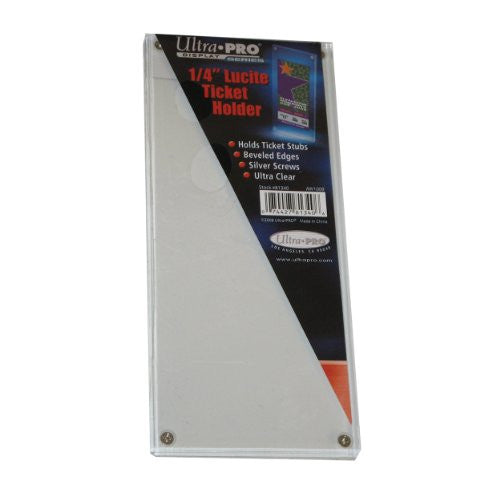 "Ultra Pro Screwdown 3-1/2"" x 8-1/4"" Lucite Ticket Holder"