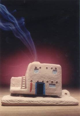 Casa (Adobe House) Burner With Pinon Natural Wood Incense - Incienso De Santa Fe