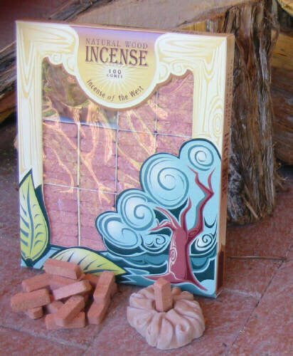 Juniper Wood Incense - 100 Bricks Plus Burner - Incienso De Santa Fe