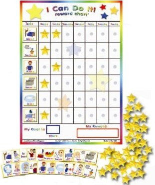 "Kenson Kids - ""I Can Do It"" Reward and Responsibility Chart Made in the USA. 11"" X 15.5"""
