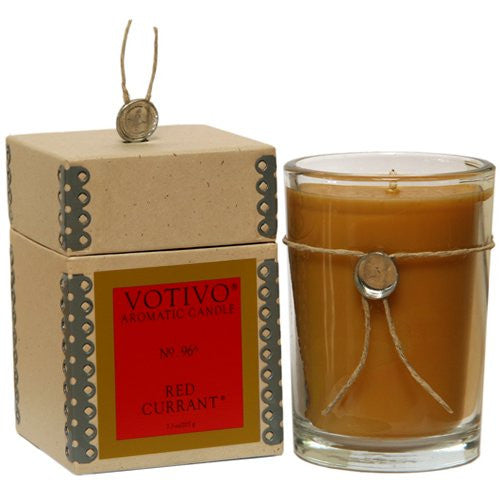Votivo Red Currant Glass Candle