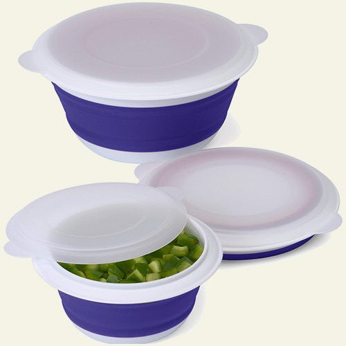 Collapsible Food Storage Containers, Set of 3