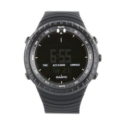 Core Wrist-Top Computer Watch with Altimeter, Barometer, Compass, and Depth Measurement (All Black)