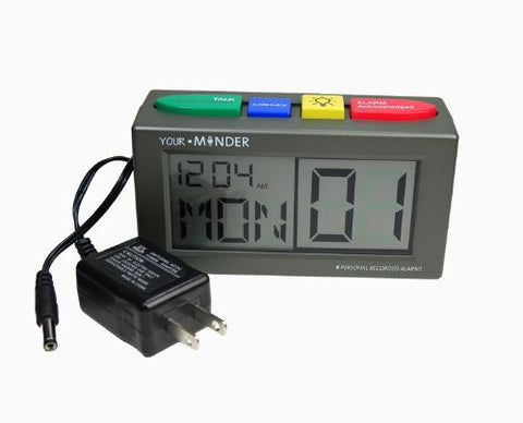 Your. Minder Personal Alarm Clock With Power Supply - Record up to (6) of Your OWN Alarm Messages