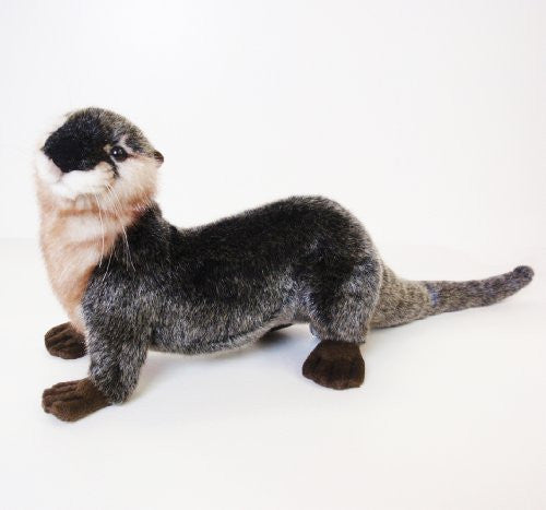 Hansa River Otter Stuffed Plush Animal, Laying
