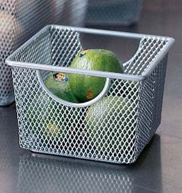 Design Ideas Mesh Storage Nest, Silver, Small